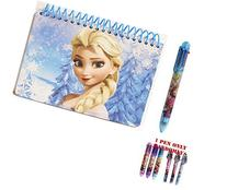 Disney Frozen Elsa The Queen Blue Spiral Autograph Book and
