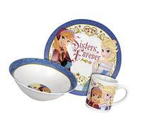 Disney Frozen Sisters Forever Dinnerware Set, 3-Piece