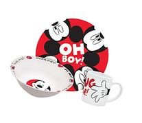Disney Mickey Hug Me Dinnerware Set, 3-Piece