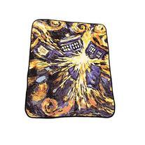 Doctor Who Throw Blanket - Exploding TARDIS Pandorica Fleece