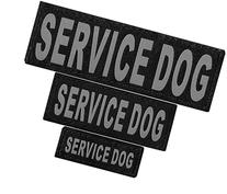 """Dogline Removable VELCRO Patches """"Service Dog"""" Tags Small/"""