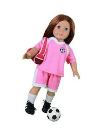 Dress Along Dolly Soccer Outfit for American Girl and 18""