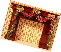 Dollhouse Miniature Artisan Holiday Fireplace Garland
