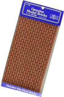 Dollhouse Miniature Mesh Sheet of Common Brick