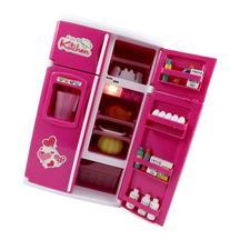 Dream Kitchen Mini Refrigerator Pink Toy Fridge Playset for
