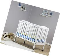 Dream On Me 2 in 1 Portable Folding Stationary Side Crib,
