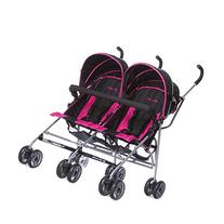 Dream On Me Twin Stroller, Dark Pink