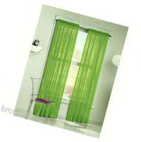 DreamKingdom - 2 PCS Solid Sheer Window Curtains/Drape/