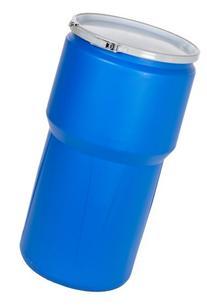 Eagle 1610MB Blue High Density Polyethylene Lab Pack Drum