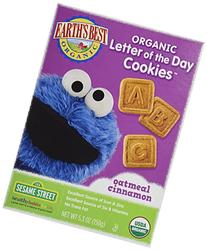Earth's Best, Sesame Street Organic Cookies, Oatmeal