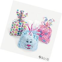 Easter Print Cellophane Goody Bags /Goody Bags/Easter Basket