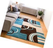 Echo Shapes & Circles Blue & Brown Modern Geometric Comfy