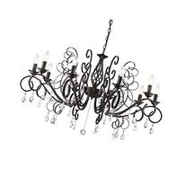 CLAXY Ecopower Vintage Wrought Iron 10-lights Chandelier