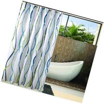 Eforgift Decorative Striped Print Shower Curtain Polyester