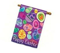 Eggstravaganza Happy Easter House Flag Bright Easter Egg 28