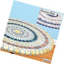 Elasticized Mosaic Table Cover 48 in Vesuvius