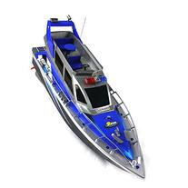 Police Speed RC Boat Electric Full-Function Big-Size 4-