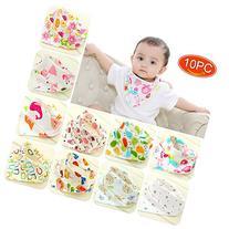 Elesa Miracle Baby and Toddler Bandana Drool Bibs, 10-pack
