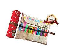 Ergonomic Crochet Hooks with Grips,Crochet Hook Case
