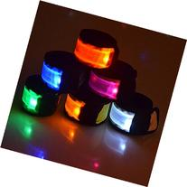 Esonstyle Pack of 6 LED Light Up Band Slap Bracelets Night