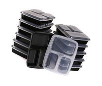 Estilo 3 Compartment Microwave Safe Bento Food Container