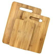 Estilo 3 Piece 100% Natural Bamboo Cutting Board Set, Bamboo