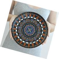 Ethnic decorative plate, Ornamental art, Mandala plate, Hand