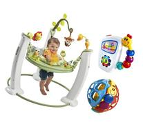 Evenflo ExerSaucer Safari Friends Jump and Learn Jumper with
