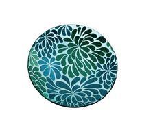 Evergreen Enterprises EG2GB115 Blossoms Glass Bird Bath