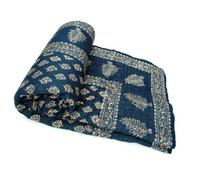 Exclusive Indian Jaipuri Quilt With Authentic Sanganeri