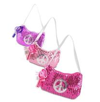 Expressions Girl / Sequin Peace Sign Handbag, One Assorted