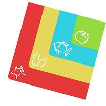 Extra Thick Flexible Plastic Cutting Mats With Food Icons