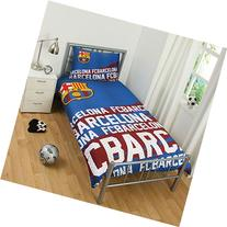 FC Barcelona Impact Single Duvet Cover and Pillowcase Set by