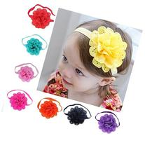 FEITONG 8Pcs Lovely Baby Girls Flower Headbands Photography