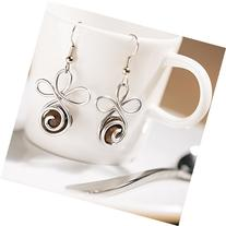Fair Trade Coffee Bean Earrings | Coffee Lovers Gift for