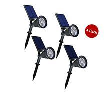 Falove 4pcs Solar Spotlight,2-in-1 LED Wall / Landscape