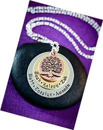 Family Tree Layered Name Necklace – DII ABC - Grandma Mom