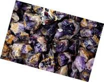 Fantasia Materials: 1 lb Banded Deep Purple Amethyst -  -