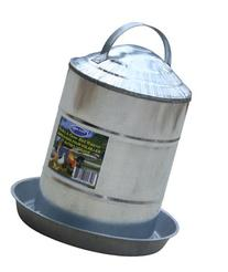 Farm Tuff Double Wall Cone-Top Galvanized Poultry Fountains