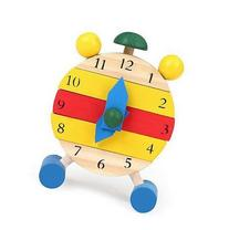 Fashion Hand Made Wooden Clock Toys for Kids Learn Time