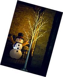 Fashionlite 8FT 128 LED Light Winter Birch Xmas Decorative