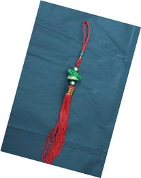 Feng Shui Money Green Turtle Dragon with Gold Ball Tassel