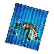 Finding Nemo Custom Polyester waterproof Bath Shower Curtain