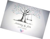 Fingerprint Tree custom wedding guestbook - Original