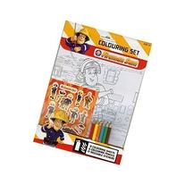 Fireman Sam Coloring Set With Pencils And Stickers
