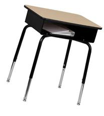 Flash Furniture FD-DESK-GG Student Desk with Open Front