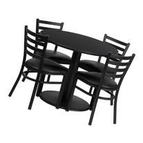 Flash Furniture 36'' Round Black Laminate Table Set with 4