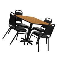 Flash Furniture 36'' Square Natural Laminate Table Set with