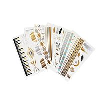Flash Temporary Metallic Tattoos - Gold & Silver Jewelry