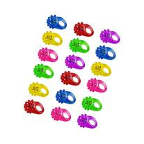 Flashing Colorful LED Light Up Bumpy Jelly Rubber Rings